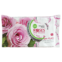 Wet wipes 15pcs Roses2